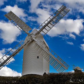 Jack and Jill up the hill by Peter Greenhalgh - Travel Locations Landmarks ( south downs, brighton, england, clayton, jack and jill windmills, sussex, windmills )