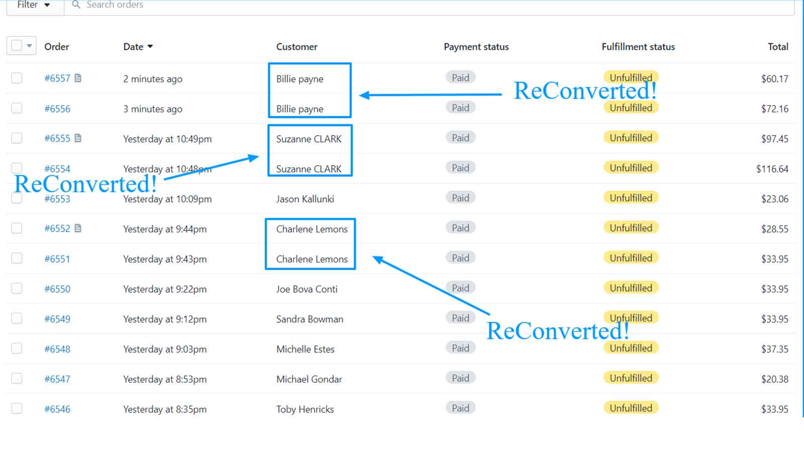 ReConvert orders - increasing conversion rates and retention