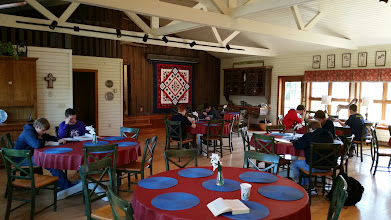 Photo: studying in the dinning room