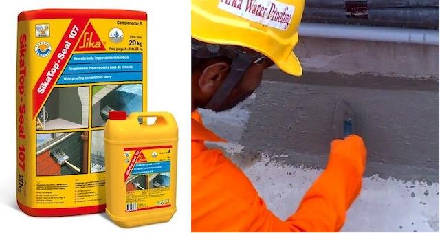 Trước khi thi công chống thấm, các bạn phải đảm bảo bề mặt bê tông phải làm sạch