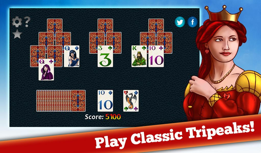 Fantasy Solitaire TriPeaks- screenshot