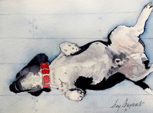 Photo: Buford.  watercolor.  5x7