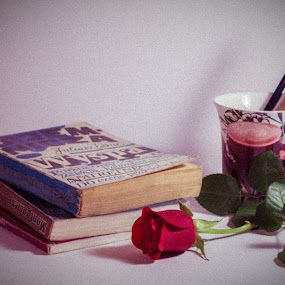 Book Cups Roses by Hadinur Jufri - Artistic Objects Other Objects