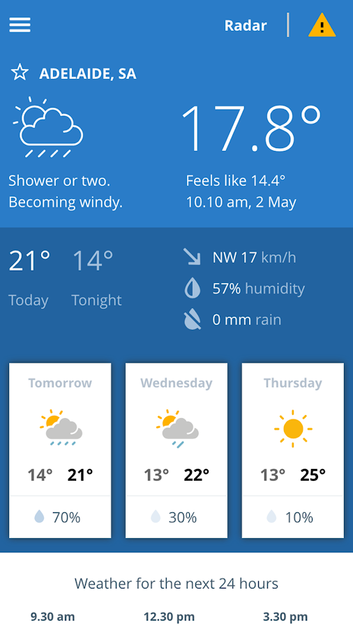 BOM Weather- screenshot