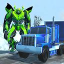 Robot Car Transport Game : Police Plane Transform APK