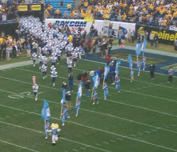 Photo: Ramses leads out the Tar Heels. Didn't I see him outside? :-)
