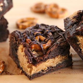 Peanut Butter-Pretzel Brownies