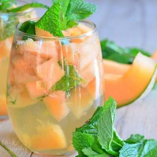 Melon Mint Wine Spritzer.