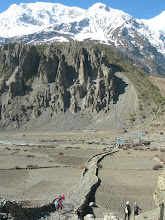 Photo: Point de vue vers le sud Chonkar de Manang