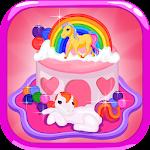 Pony Birthday Cake Icon