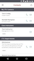 Screenshot of CTU Mobile