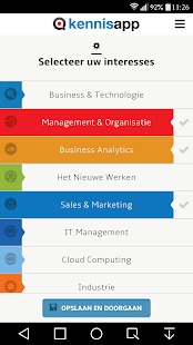Management Kennisapp- screenshot thumbnail