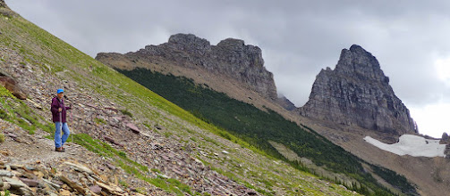 Photo: Heading up to the overlook. The ridge-line is the Continental Divide.