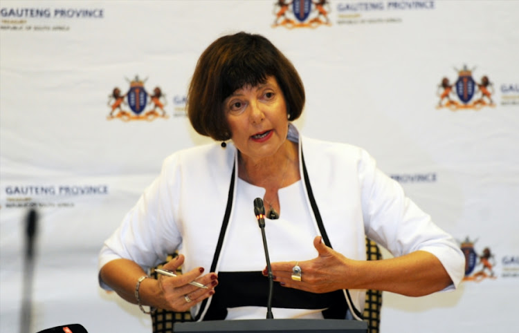 Gauteng Finance MEC Barbara Creecy delivers budget speech.
