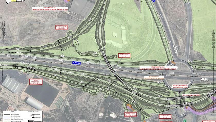 Imagen del proyecto para enlazar la A92 con la A7