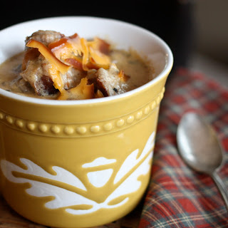 Cheese-y Bratwurst & Beer Soup