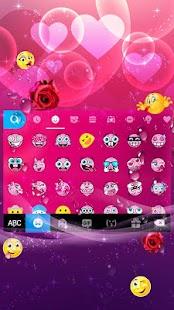 Romantic Rose Keyboard Theme - náhled
