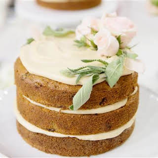 Gluten-Free Carrot Cake with Vegan Cream Cheese Frosting.