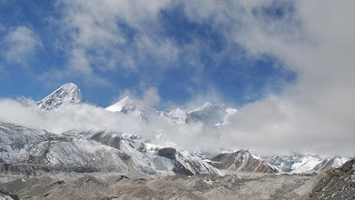 Photo: Kharta Valley, the Kangshung Glacier near Base Camp