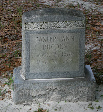Photo: Easter Ann Raulerson Rhoden daughter of David Raulerson and Mary Ann Sweat / Wife of William Rhoden son of William Newton Rhoden and Dory Ann Thompson Rhoden