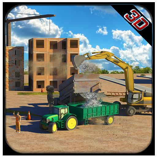 具体的な掘削機トラクターシム 模擬 LOGO-玩APPs