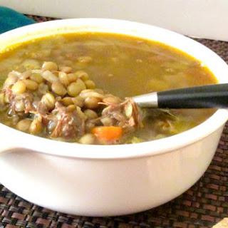 Lentil Soup with Pulled Pork.