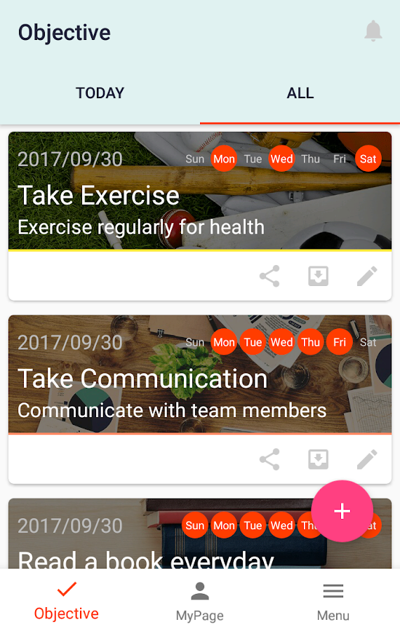 MyCoach 〜Let's accomplish the goal together!〜- screenshot