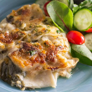 Chicken & Spinach Lasagna Bake with Four Cheeses Recipe