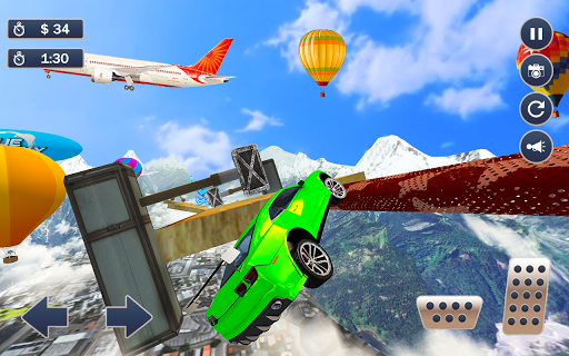 Mega Ramp Car Simulator u2013 Impossible 3D Car Stunts apkpoly screenshots 8