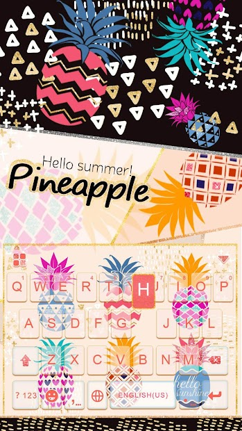 Pineapple Keyboard Theme Android App Screenshot