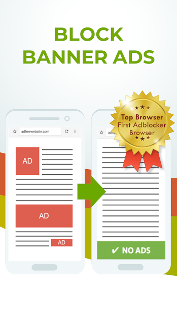 Free Adblocker Browser - Adblock & Popup Blocker Android App Screenshot
