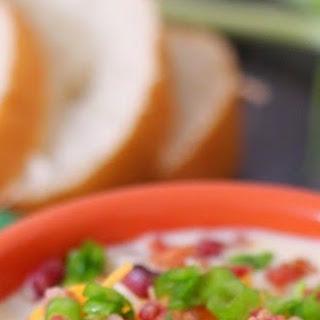 Easy Slow Cooker Loaded Potato Soup.