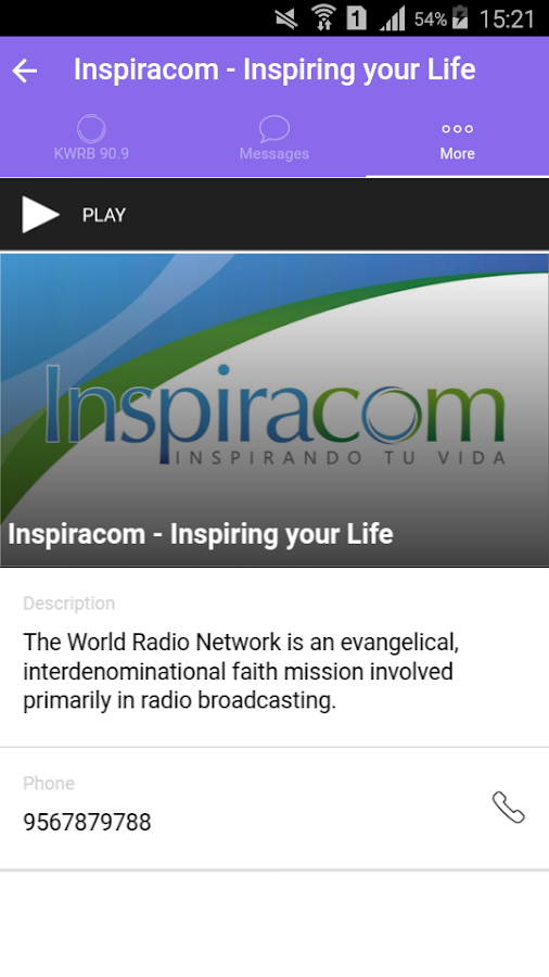 KWRB Christian Radio- screenshot