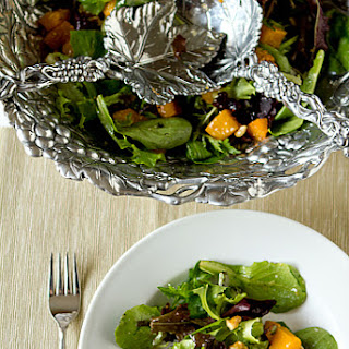 Roasted Butternut Squash Salad with Warm Cider Vinaigrette