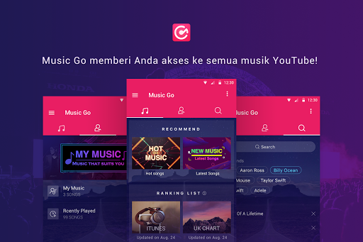 Pemutar Musik Gratis Tanpa Batas u2013 Music Go 1.5.1 screenshots 1