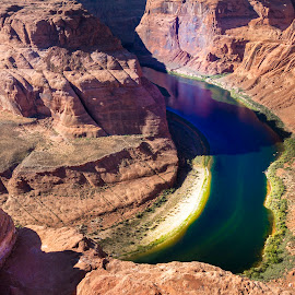 Horseshoe Bend by Alessandro Calzolaro - Landscapes Caves & Formations ( nature, arizona, colorado, rock, landscape, river, horseshoe,  )