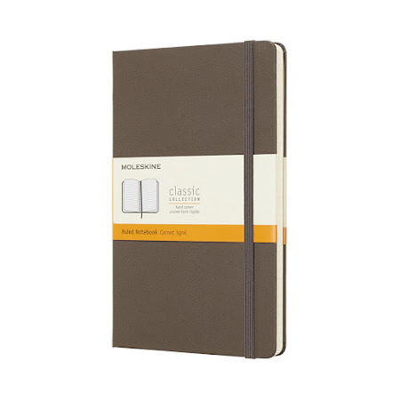 Classic Hard Cover Large Plain Brown
