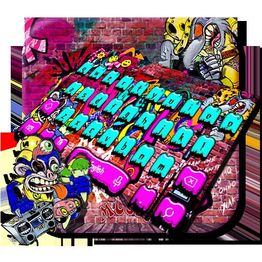 Rock Graffiti Keyboard Theme