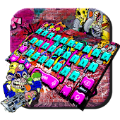 Rock Graffiti Keyboard Theme