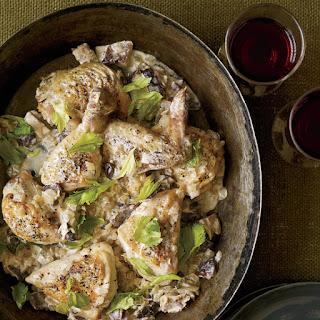 Creamy Chicken-and-Mushroom Fricassee