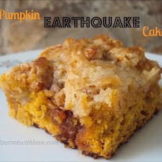 Pumpkin Earthquake Cake.