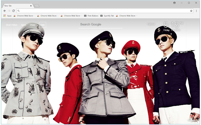 Kpop SHINee HD Wallpapers New Tab Themes