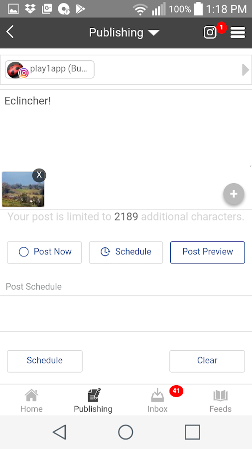 eClincher: Social Media Management, Marketing- screenshot