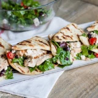 Greek Salad Chicken Flatbread.