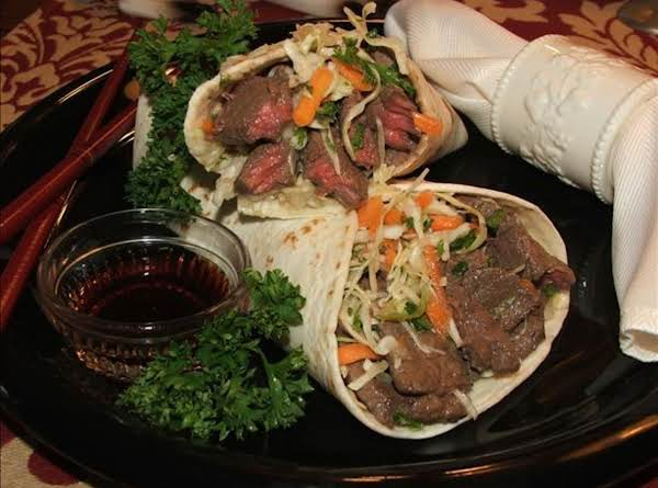 Teriyaki Steak Wraps