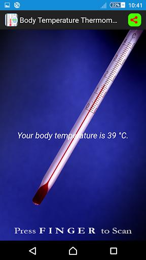 Finger Body Temperature Test