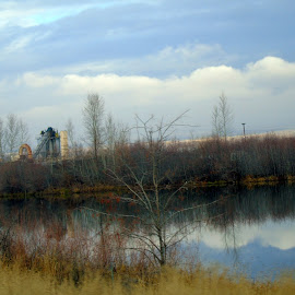 REFLECT by Cynthia Dodd - Novices Only Landscapes ( water, clouds, sky, colors, trees, reflections, landscape, river )