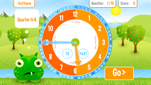 Squeebles Tell The Time screenshot