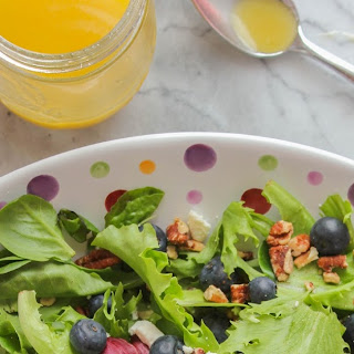 Blueberry & Toasted Pecan Mixed Greens Salad with Orange Vinaigrette