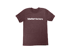 MatterHackers Printed Heather T-Shirts Maroon Heather XXLarge